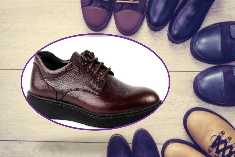 کفش  ارتوپدی  مردانه همراه با کفی سفارشی ساز ارتا سازه